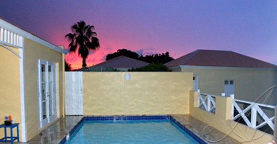 Caribe ~ Sunset over Private pool